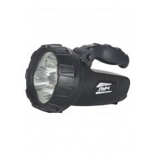 Светодиодный аккумуляторный фонарь Луч-200, зарядка 220 и 12V в комплекте