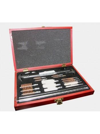 Набор для чистки оружия Yagnob в деревянном чемодане GCK-76-MTX (светлый)
