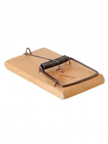 Крысоловка с деревянным основанием, омедненная насторожка