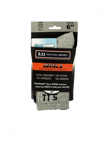 Тактические термоноски 5.11 Tactical series Level 2, цвет серый/синий, арт TAC-9010