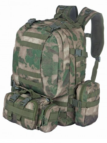 Рюкзак Тактический FORTRESS с напояс. сумкой и 2 подсум, 40 л, арт 016, цвет Атакс, Мох, (A-TACS)