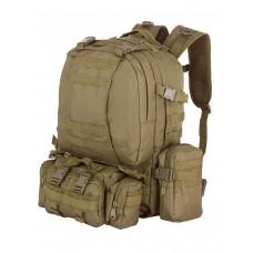 Рюкзак Тактический FORTRESS с напояс. сумкой и 2 подсум, 40 л, арт 016, цвет Койот (Coyote)