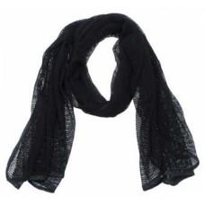 Шарф-сетка, арт1, 190 x 90 см, цвет Черный (Black)