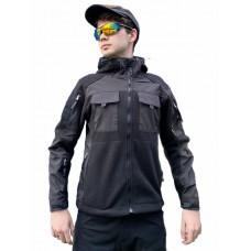 Флисовая куртка 726 GEAR FIRST GENERATION Classic Tactical Style, арт 107, цвет Черный