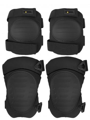 Комплект: Налокотники и Наколенники Gongtex Tactical Protection, арт GK08K, цвет Черный (Black)