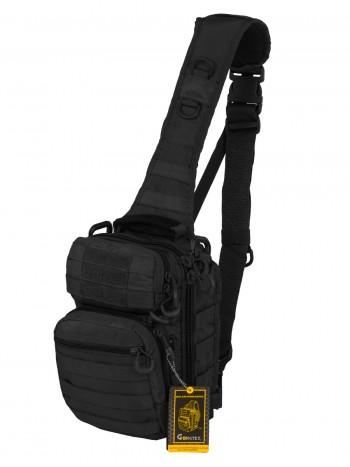Тактический Рюкзак-Сумка GONGTEX Rover Sling Hexagon Backpack, арт 0306, цвет Черный (Black)