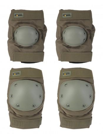 Комплект: Налокотники и Наколенники Gongtex Tactical Protection, арт GK07K, цвет Олива (Olive)