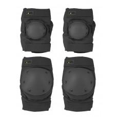 Комплект: Налокотники и Наколенники Gongtex Tactical Protection, арт GK07K, цвет Черный (Black)