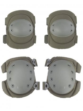 Комплект: Налокотники и Наколенники Gongtex Tactical Protection, арт GK04K, цвет Олива (Olive)