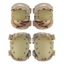 Комплект: Налокотники и Наколенники Gongtex Tactical Protection, арт GK04K, цвет Мультикам (Multicam)