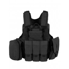 Тактический Разгрузочный Бронежилет с подсумками Tactica арт 047, цвет Черный (Black)