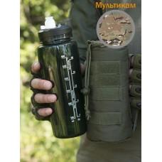 Тактическая фляга GONGTEX с чехлом и креплением на систему Молле цвет Мультикам (Multicam)