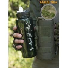 Тактическая фляга GONGTEX с чехлом и креплением на систему Молле цвет АТАКС, Мох (A-TACS)