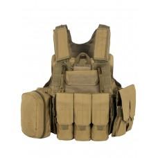 Тактический Разгрузочный Бронежилет с подсумками Tactica арт 047, цвет Койот (Coyote)