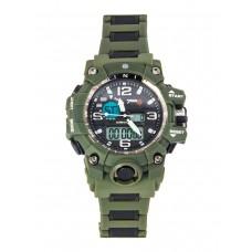 Тактические часы Dual Time Chronometer, 7.62, Water Resistant 30м, арт CB002, цвет Олива (Olive)