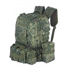 Рюкзак Тактический FORTRESS с напояс. сумкой и 2 подсум, 40 л, арт 016, цвет Цифровой ЕМР лето (EMP)
