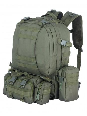 Рюкзак Тактический FORTRESS с напояс. сумкой и 2 подсум, 40 л, арт 016, цвет Олива (Olive)
