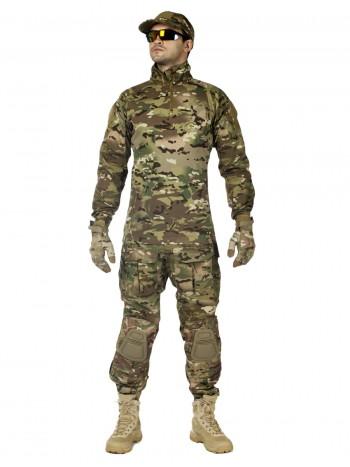 Костюм тактический мужской, летний, Gongtex Phantom с защитой локтей и коленей, цвет мультикам