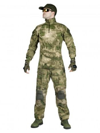 Костюм тактический мужской, летний, Gongtex Phantom с защитой локтей и коленей, 100% хлопок, цвет A-tacs
