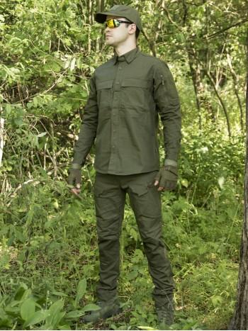 Костюм тактический мужской, летний, Gongtex Commando, 100% хлопок , цвет Олива