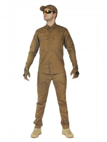 Костюм тактический мужской, летний, Gongtex Commando, 100% хлопок , цвет Coyote
