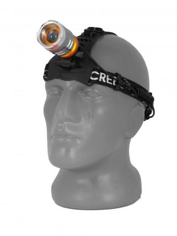 Мощный, налобный, светодиодный, аккумуляторный фонарь, арт. T615