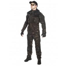 Костюм тактический мужской демисезонный GONGTEX Rescuer, цвет Черный Мультикам (Multicam Black)
