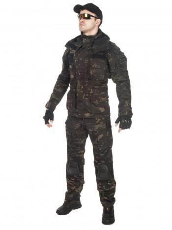 Костюм тактический мужской демисезонный GONTEX Rescuer, цвет Multicam Black