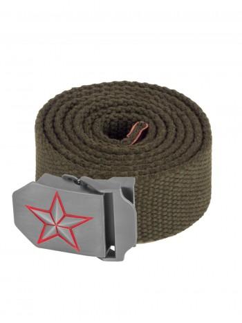 Ремень тактический нейлоновый ARMY OPERATOR BELT, пряжка KREMLIN STAR, цвет Олива (Olive)