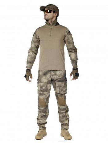 Костюм тактический мужской -  летний TACTICA 7.62 со съемной защитой локтей и коленей, цвет A-Tacs Desert