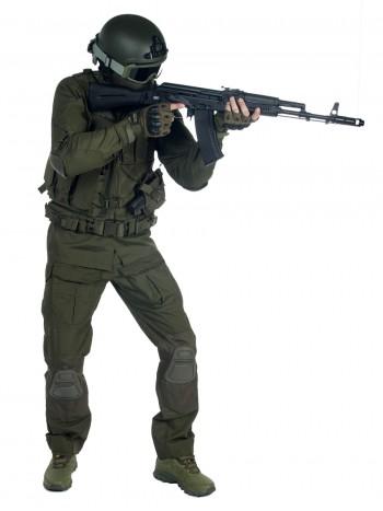 Костюм тактический мужской, летний, Gongtex Alpha с защитой локтей и коленей, цвет Олива (Olive)