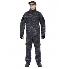 Тактический костюм мужской софтшелл (Softshell) GONGTEX GUNFIGHTER, до -10С, цвет Мультикам блэк