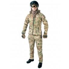 Тактический костюм мужской софтшелл (Softshell) GONGTEX ASSAULT, до -10С, цвет Мультикам (Multicam)