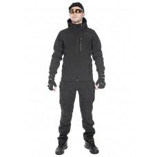 Тактический костюм мужской софтшелл (Softshell) GONGTEX ASSAULT, до -10С, цвет Черный (Black)