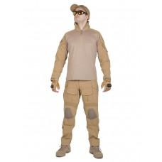 Костюм камуфляжный тактический летний G3 с защитой локтей и коленей, Tactica 762, цвет Койот (Coyote)
