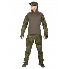 Костюм камуфляжный тактический летний G3 с защитой локтей и коленей, Tactica 762, цвет Цифровая флора (EMP)