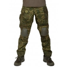 Брюки тактические мужские летние G3 Tactical Pants, с защитой коленей, ACTION STRETCH, RipStop, цвет ЕМР, Цифровая флора/Русская цифра, ЕМР