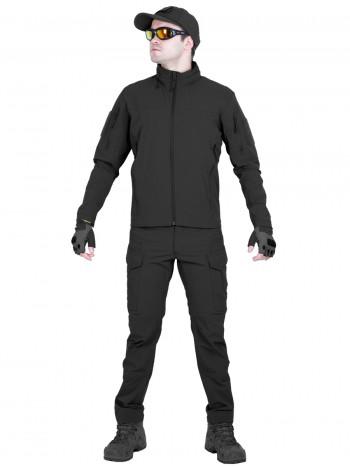 Костюм тактический мужской, демисезонный, Gongtex Outdoor Tactical Suit, цвет Черный (Black)