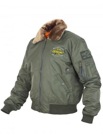 Куртка Пилот мужская (бомбер), осень-зима, 762 Armyfans G060A, цвет Олива (Olive)