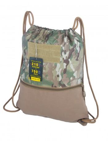 Компактный армейский Вещмешок Gongtex Sports Bag, 18 л, арт 0488,  цвет Мультикам (Multicam)
