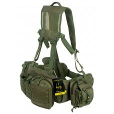 Армейский тактический разгрузочный пояс (разгрузка) с подсумками GONGTEX Tactical Belt Kit, арт 0047, цвет Олива (Olive)