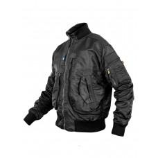 Куртка Пилот мужская (бомбер), демисезонная  762 Armyfans G056A, цвет Черный (Black)
