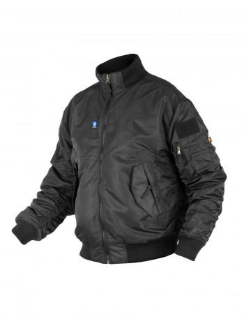 Куртка Пилот мужская (бомбер), осень-зима, 762 Armyfans GD056A, цвет Черный (Black)