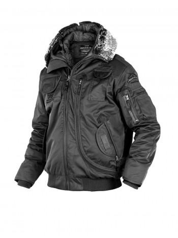 Куртка Пилот мужская (бомбер), осень- зима 762 Armyfans G037A, цвет Черный (Black)