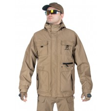 Куртка мужская демисезонная 2в1, AIR FORCE WINDBREAKER (ветровка + Softshell Jacket), 726 Armyfans, арт 038, цвет Хаки (Khaki)