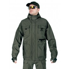 Куртка мужская демисезонная 2в1, AIR FORCE WINDBREAKER (ветровка + Softshell Jacket), 726 Armyfans, арт 038, цвет Олива (Olive)