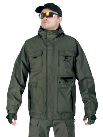 Куртка мужская демисезонная 2в1, AIR FORCE WINDBREAKER (ветровка + Softshell Jacket), 726 Armyfans, арт 038, цвет Олива (Olive)