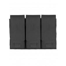 Подсумок для магазина на 3 отделения Tactica 762, арт PH-033, цвет Черный (Black)