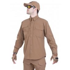 Рубашка тактическая мужская GONGTEX TRAVELLER SHIRT, нейлон, цвет Койот (Coyote)