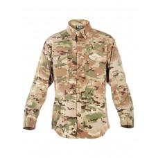 Легкая тактическая мужская рубашка GONGTEX TRAVELLER SHIRT, полиэтер-эластан, цвет Мультикам (Multicam)